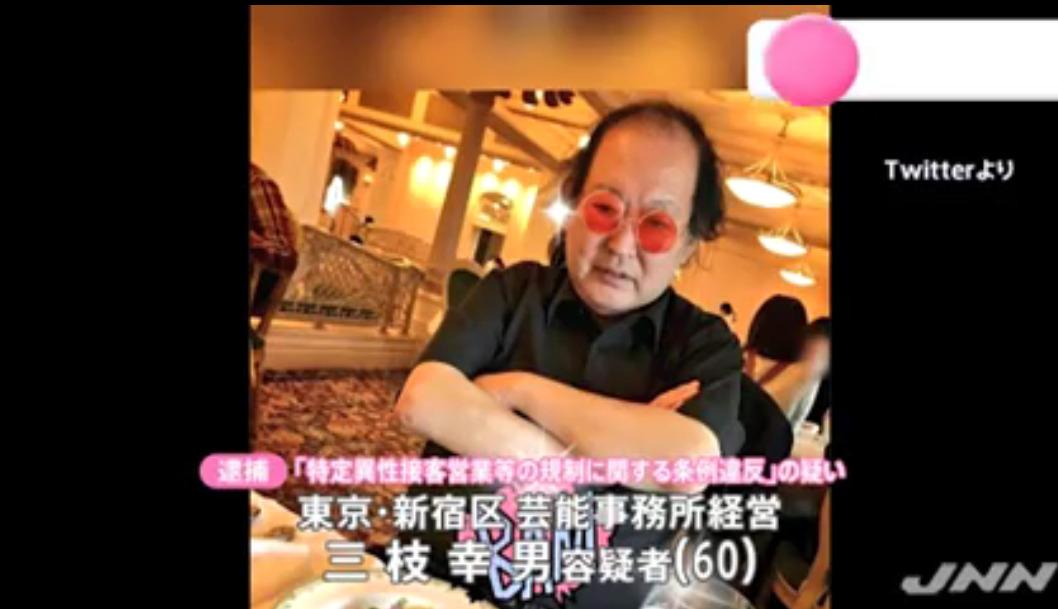 三枝幸男の赤いサングラスがヤバい!Facebook顔画像特定!芸能事務所や家族(妻・子供)は?
